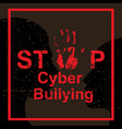 stop cyber bullying concept vector image vector image