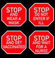 stop sign clip art with covid19 and flu precaution vector image