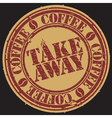 Take away coffee stamp vector image vector image
