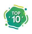 top 10 ten words on green abctract background vector image vector image