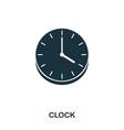 wall clock icon line style icon design ui vector image