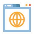 world wide web flat vector image vector image