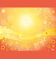 yellow and red background vector image vector image