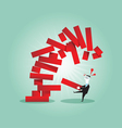Planning risk and strategy in business vector image
