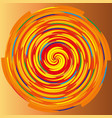 color spiral on a beige background abstraction vector image