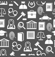 silhouette law and justice seamless pattern vector image