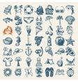 49 hand draw sketch summer icons collection vector image vector image