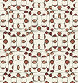 Abstract pattern of colored ovals vector image vector image