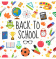 back to school seamless pattern education is an vector image vector image
