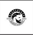barbershop logo design stock vector image vector image