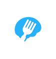 brain food logo icon design vector image vector image