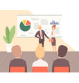 business training guest lecturer corporate vector image vector image