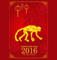 chinese new year design for year of monkey vector image vector image