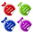 christmas ball colorful stickers set vector image