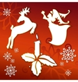 christmas icons silhouettes llustration vector image vector image
