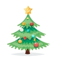 Christmas Tree Decorations and Toys New Year vector image