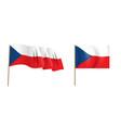 colorful naturalistic waving czech republic flag vector image