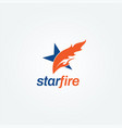 creative fire star logo sign symbol icon vector image vector image