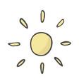 cute cartoon hand drawn sun drawing sweet vector image vector image