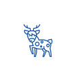 cute deer line icon concept cute deer flat vector image vector image