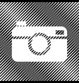 digital photo camera sign icon hole in vector image vector image