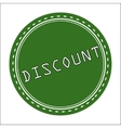 Discount Icon Badge Label or Sticke vector image vector image
