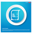 document icon abstract blue web sticker button vector image vector image
