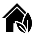 eco house icon simple style vector image