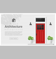 Elements of architecture front door background 2 vector image vector image