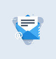 email notification icon vector image