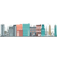 flat urban landscape skyline background vector image vector image