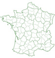 France contour map vector image vector image