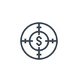 funds hunting related glyph icon vector image
