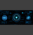 futuristic concept hud gui style vector image vector image