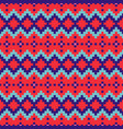 geometric seamless red blue chevron pattern pixel vector image vector image