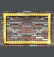 golden painted horizontal rectangular frame vector image vector image