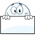 Golf ball face with sign vector image vector image