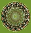 greek colorful round mandala pattern ornamental vector image vector image