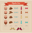 hipsters icons vector image vector image