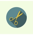 icons with open scissors vector image