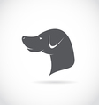 image an dog head vector image vector image