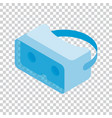 isometric glasses of virtual reality on a vector image vector image
