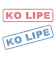ko lipe textile stamps vector image vector image