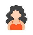 lady with wavy hair vector image vector image