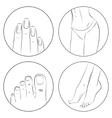 Manicure pedicure and bodycare concept Icon set vector image vector image
