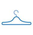 metal clothes hook icon vector image vector image