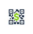 money barcode logo icon design vector image