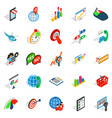 new business icons set isometric style vector image vector image