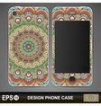Phone case design vector image vector image