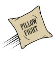 pillow fight icon vector image